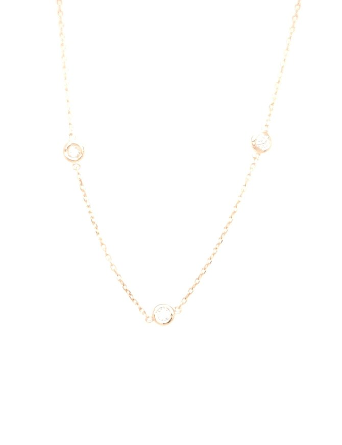 Diamond (1.00ctw) by yard necklace 14k yellow gold