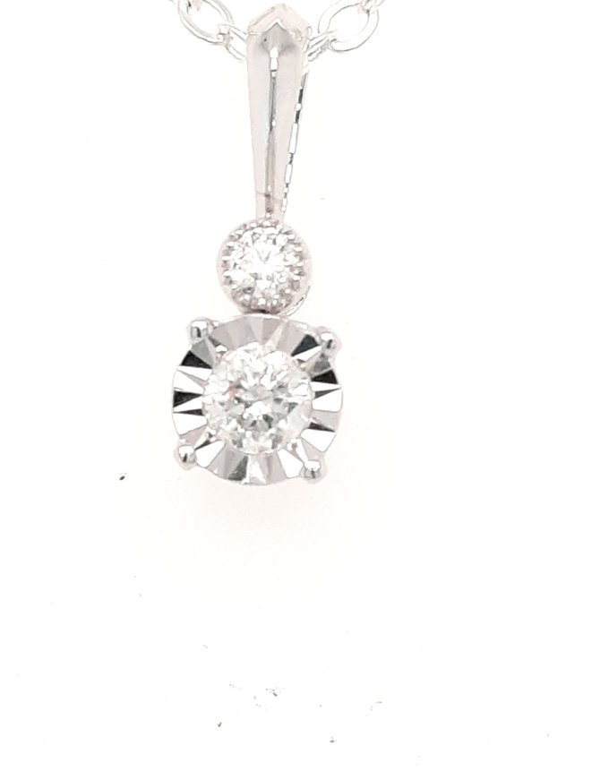 Diamond (0.20ctw) pendant 14k white gold