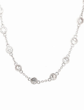 Diamond (2.50 ctw) by the yard necklace, 14k white gold