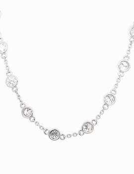 Diamond (5.03 ctw) by yard necklace, 14k white gold