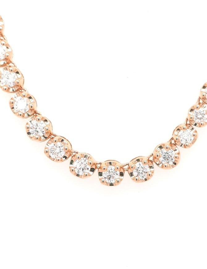 5.05ctw diamond adjustable bolo necklace 14k yellow gold
