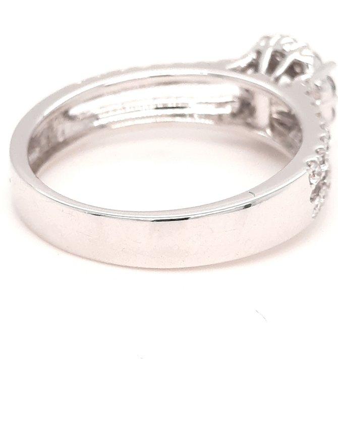 Diamond (0.63ctw) bridal setting 14k white gold