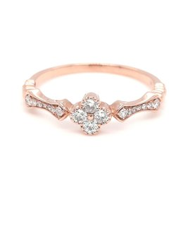Diamond (0.21ctw) flower ring 14k rose gold