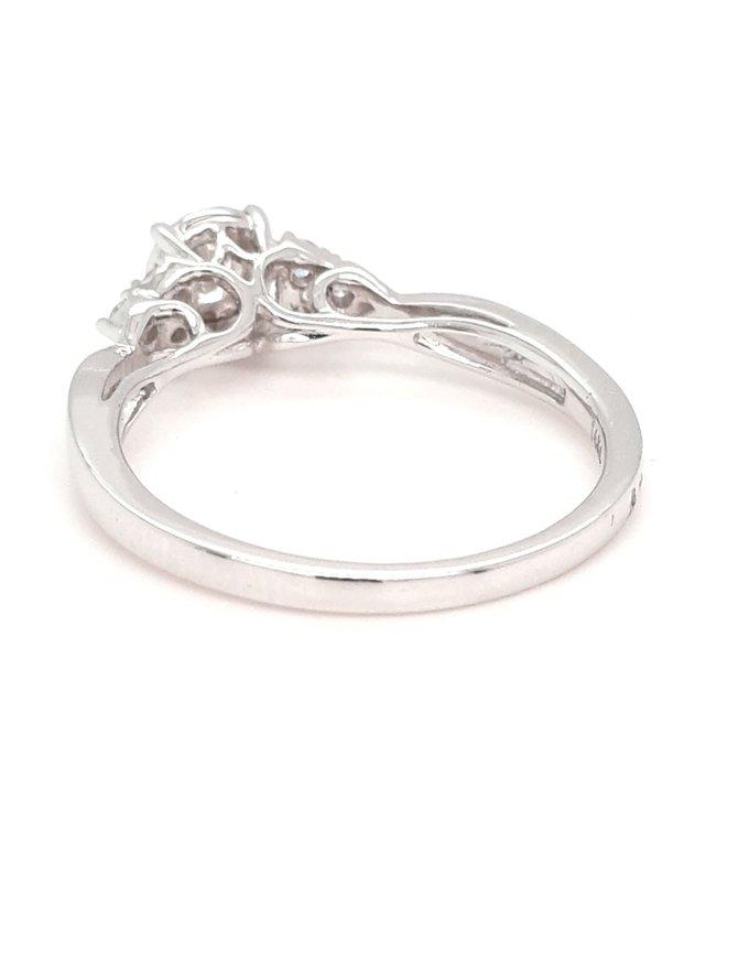 Diamond (0.27ctw) illusion set solitaire ring 14k white gold