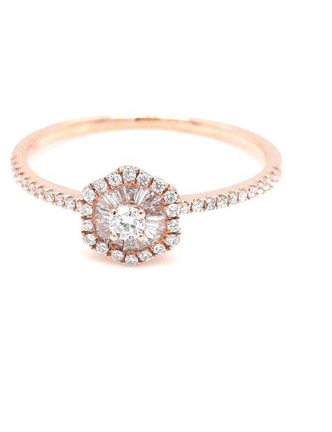 Diamond (0.24ctw) halo style ring 18k rose gold