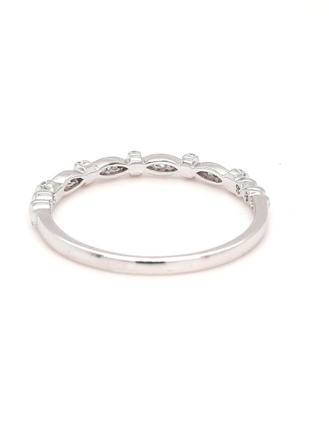Diamond (0.12ctw) stackable band, 14k white gold