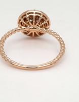 Diamond (0.29ctw) illusion set halo ring, 14k yellow gold