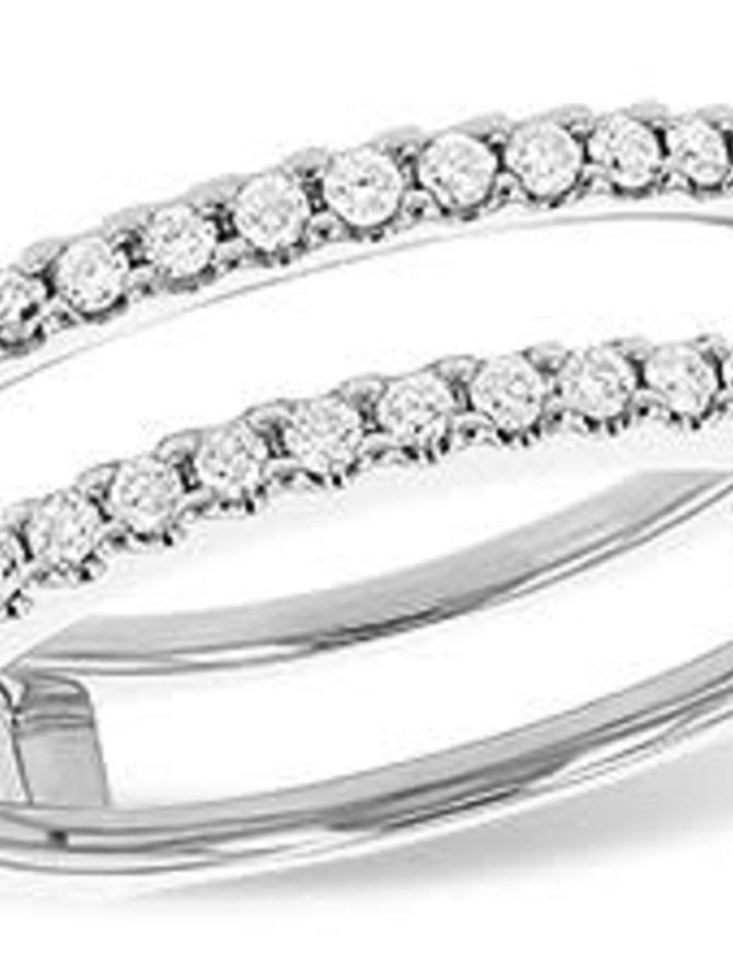 Diamond (0.33 ctw) prong set guard band, 14k white gold
