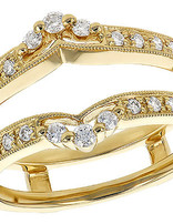 Diamond (0.28ctw) tiara-look ring guard, 14k yellow gold