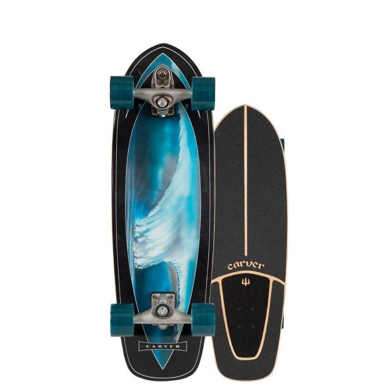 """Carver Carver 32"""" Super Surfer Surfskate C7 Raw Complete"""