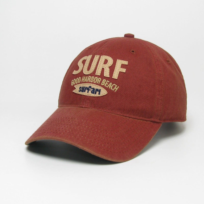 Surfari Surfari Surf Good Harbor Beach Old Favorite Hat Cardinal