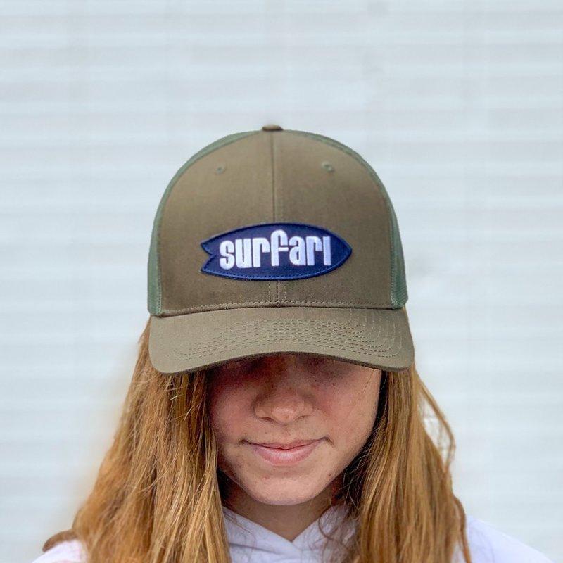 Surfari Surfari Logo Pre-Curved Trucker Hat Loden