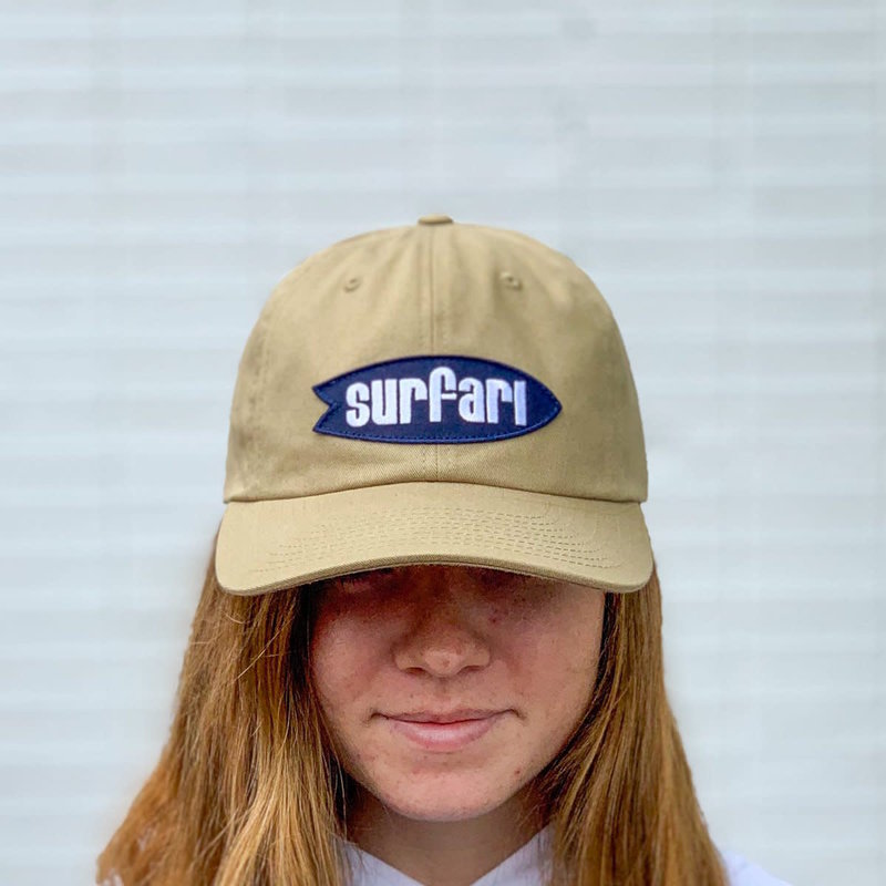 Surfari Surfari Logo Dad Hat Driftwood