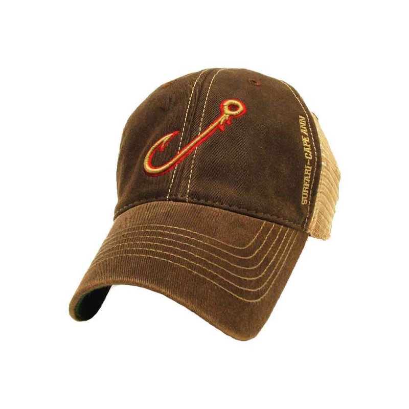 Surfari Surfari Fish Hook Trucker Hat Brown