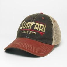 Surfari Surfari Cape Ann Trucker Hat Black/Cardinal