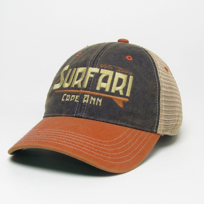 Surfari Surfari Cape Ann Trucker Hat Navy/Orange