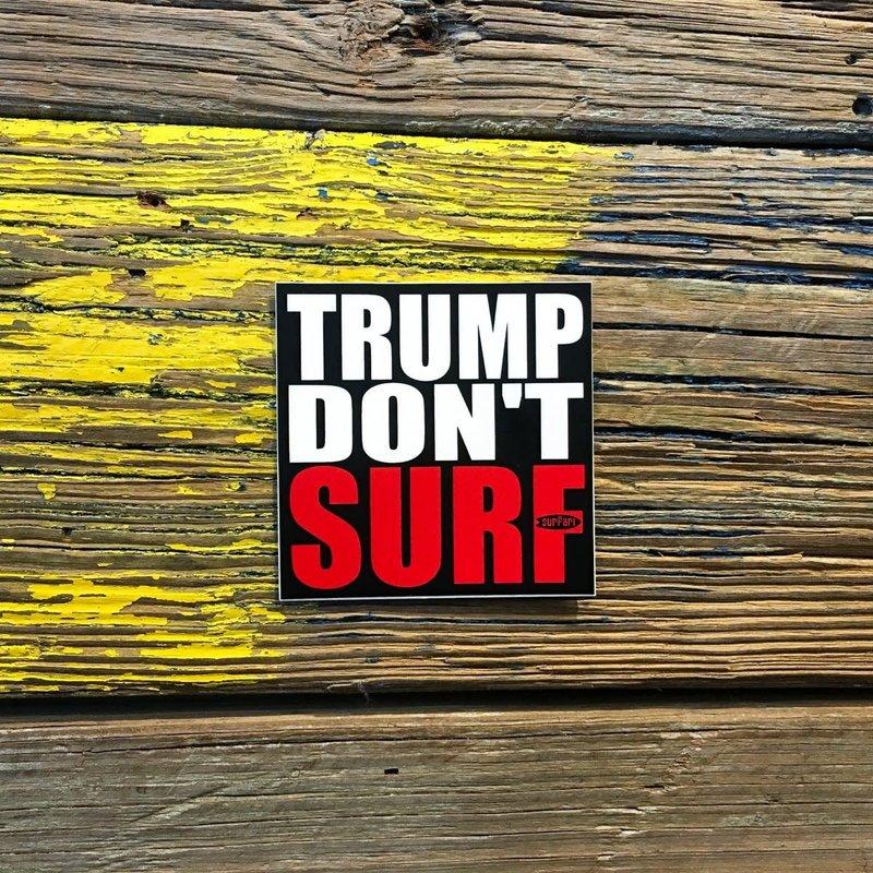 Surfari Trump Don't Surf Sticker