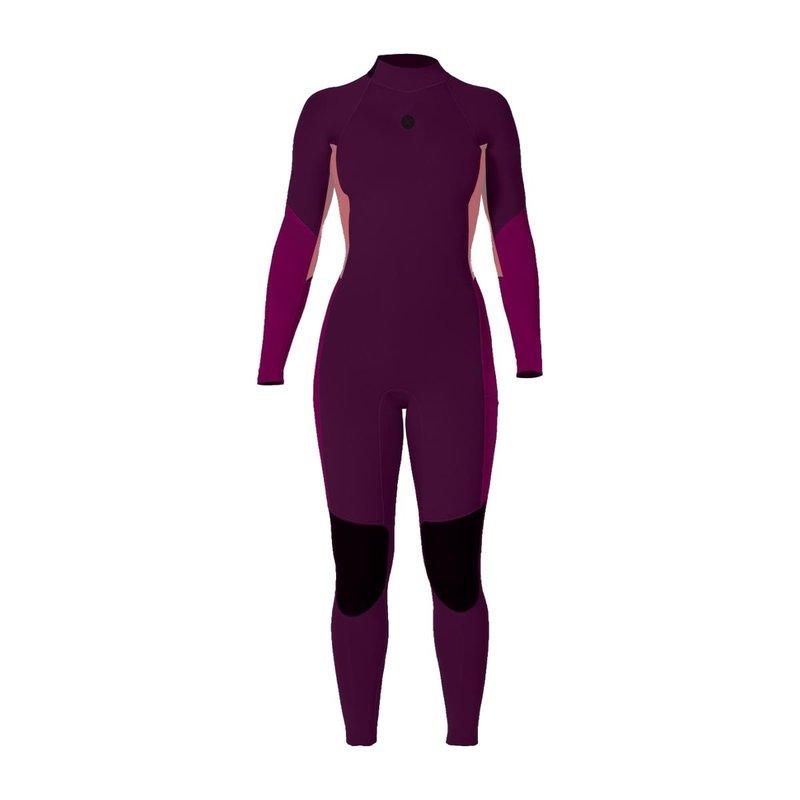 sisstrevolution Sisstrevolution 7 Seas 4/3mm Girls Back Zip Fullsuit Boysenberry