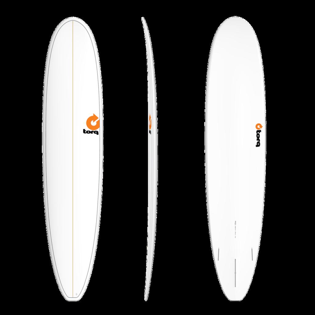 "Torq 9'0"" Torq Longboard White Pinline"