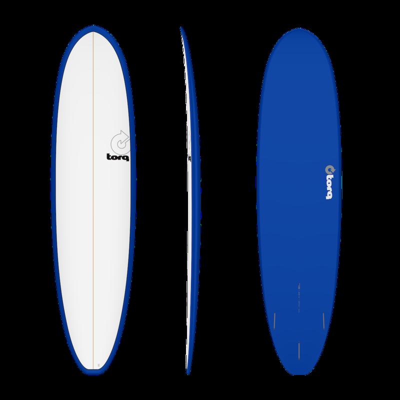 "Torq 7'8"" Torq Mod Fun V+ Pinline Denim + White Deck"