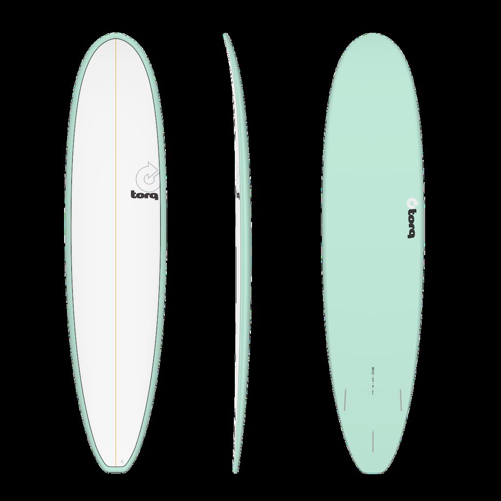 "Torq 8'6"" Torq Longboard Pinline Seagreen + White Deck"