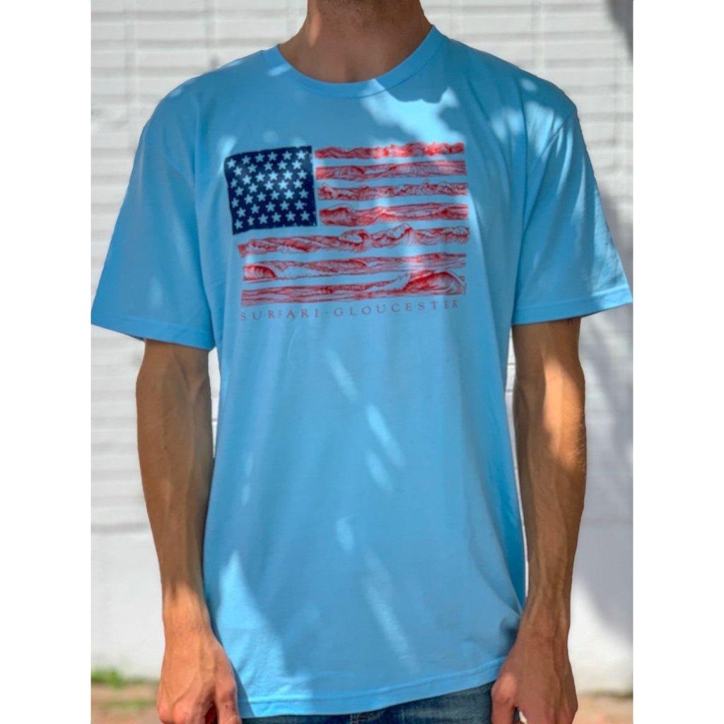Surfari Surfari United Waves T-shirt Light Blue