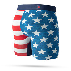 """Stance Stance The Fourth Striped Wholester Butter Blend 6"""" Boxer Brief Blue"""