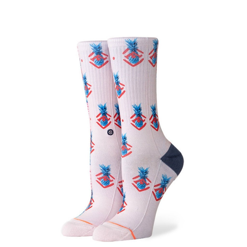 Stance Stance Women's Polka Pineapple Sock Lilac Ice M