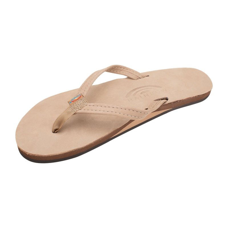 Rainbow Sandals Rainbow Women's Sierra Brown Single Layer Premier Leather With Arch Support Narrow Strap