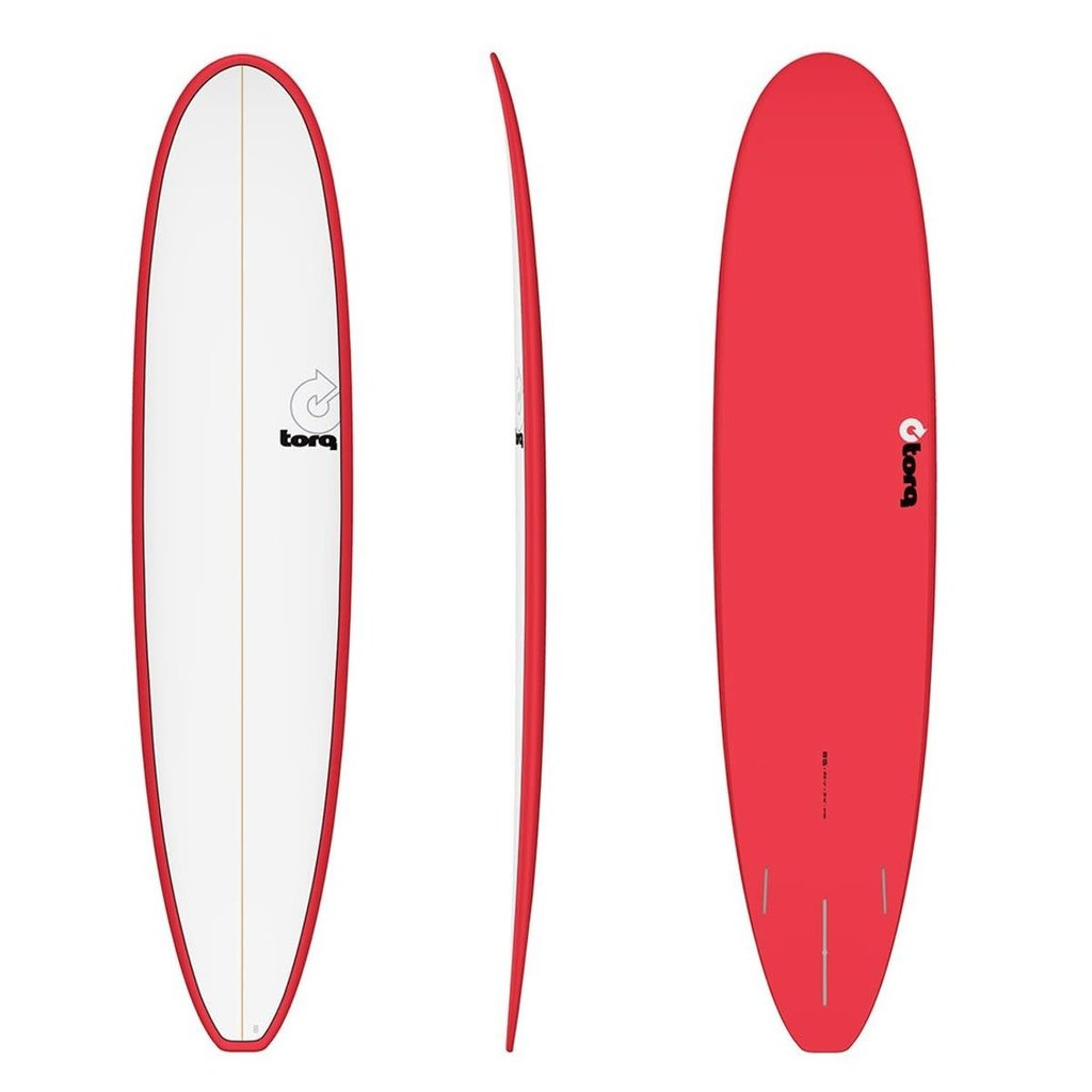 "Torq 9'0"" Torq Long Pinline Red White Deck"
