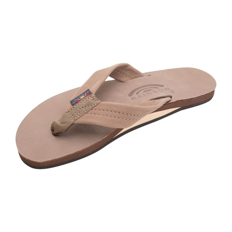 Rainbow Sandals Rainbow Women's Dark Brown Single Layer Premier Leather With Arch Support
