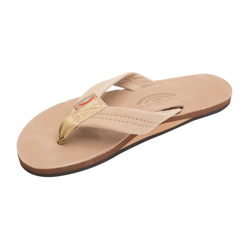 Rainbow Sandals Rainbow Women's Sierra Brown Single Layer Premier Leather With Arch Support
