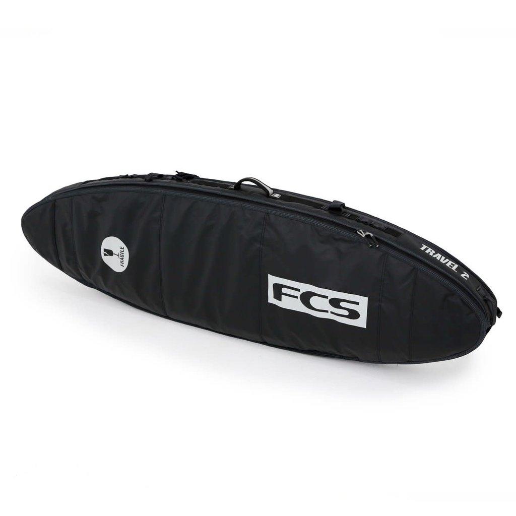 "FCS FCS 6'7"" Travel 2 All Purpose Board Cover Black/Grey"