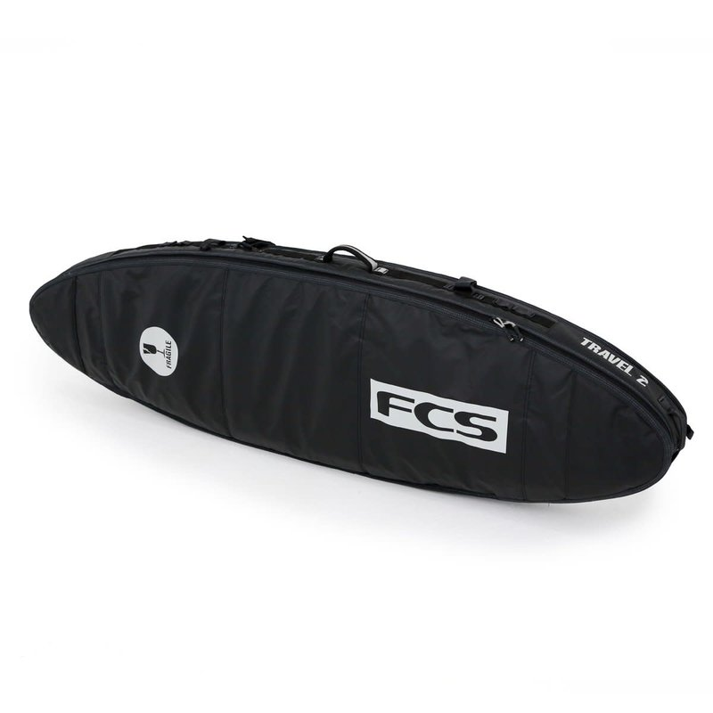 "FCS FCS 6'7"" Travel 2 All Purpose Board Cover Black/Grey"