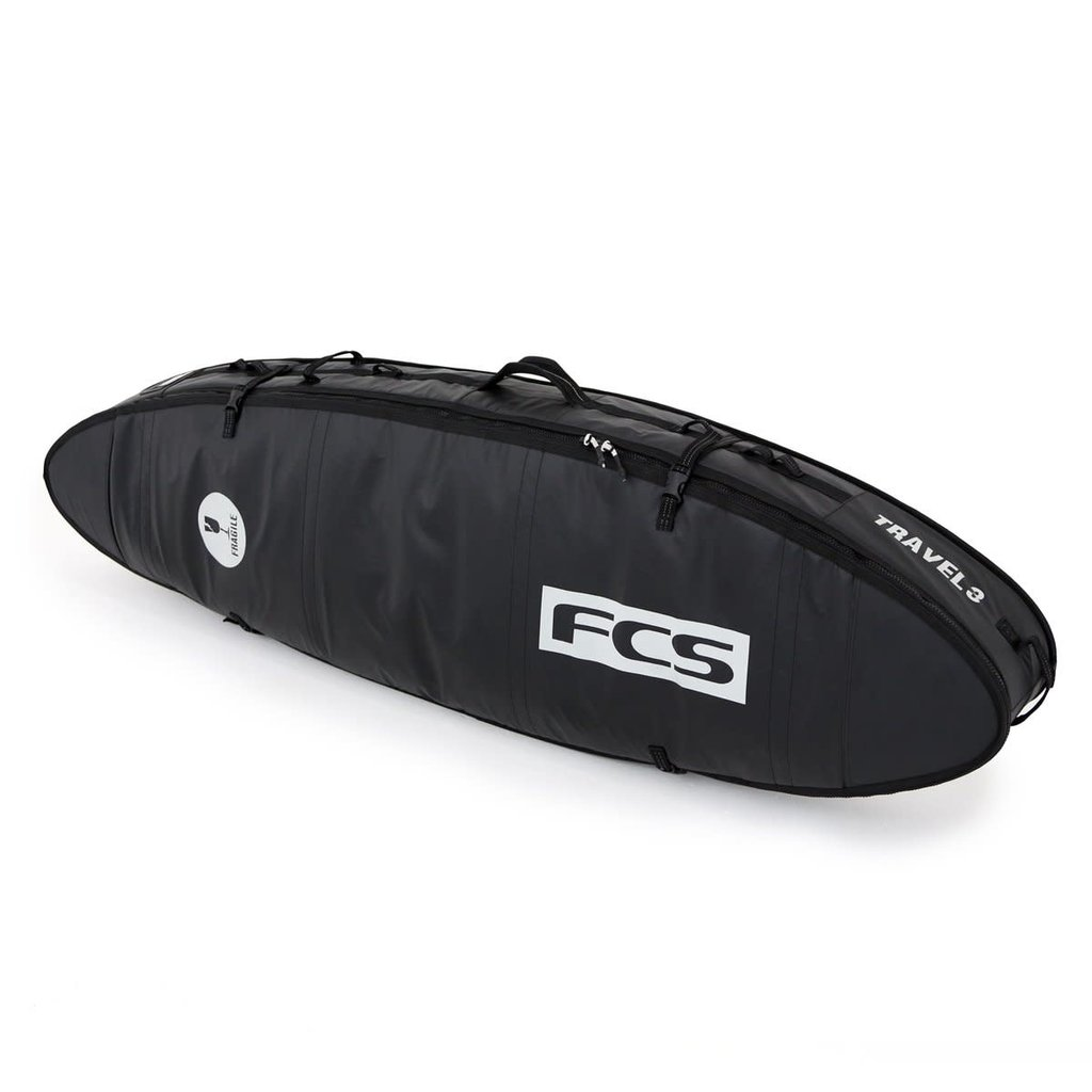 "FCS FCS 7'0"" Travel 3 All Purpose Board Cover Black/Grey"