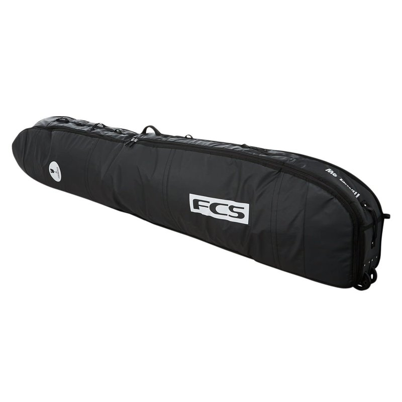 "FCS FCS 9'2"" Travel 2 Wheelie Longboard Cover Black/Grey"