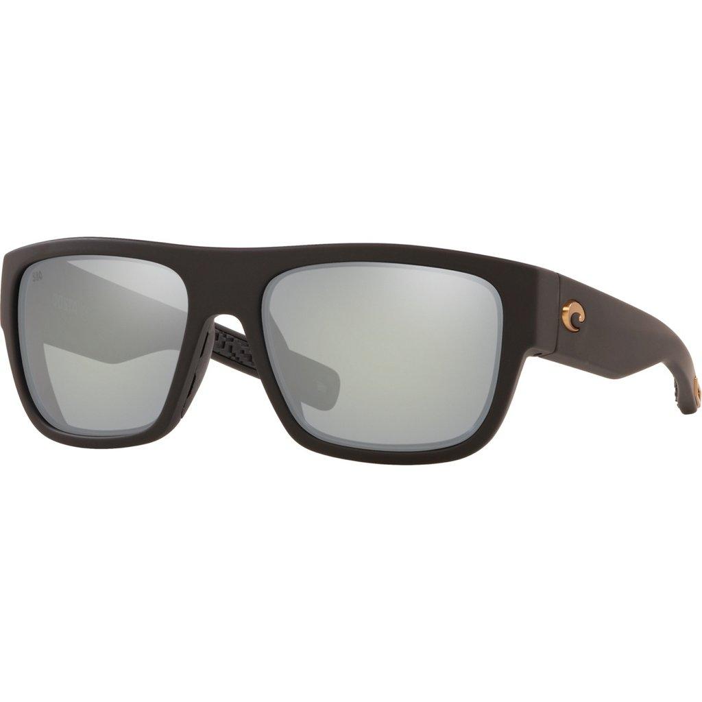Costa Costa Sampan Gray Silver Mirror 580G Matte Black Ultra Frame