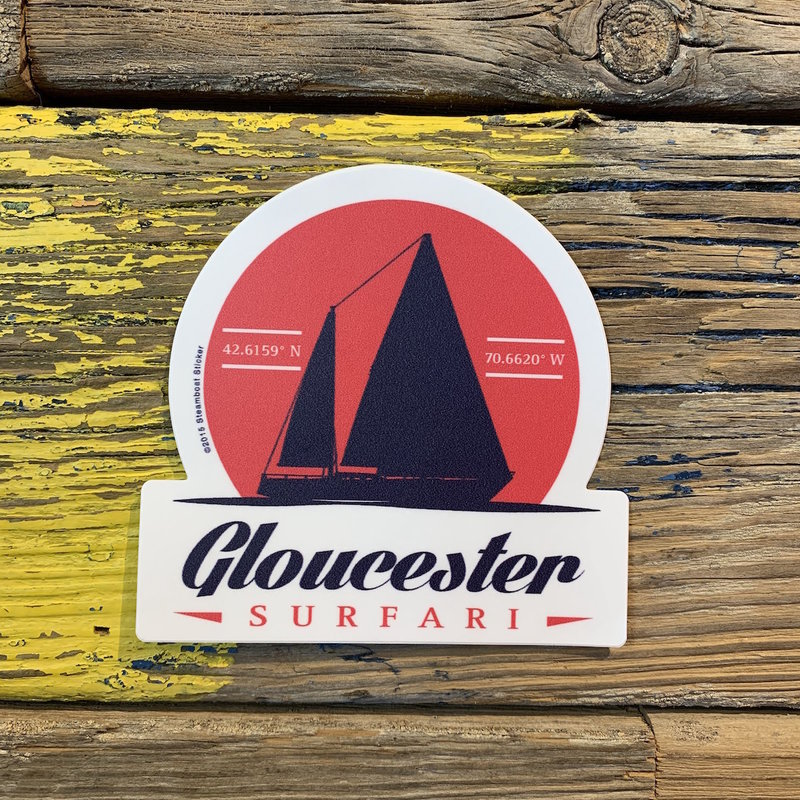Surfari Gloucester Sailboat Surfari Sticker