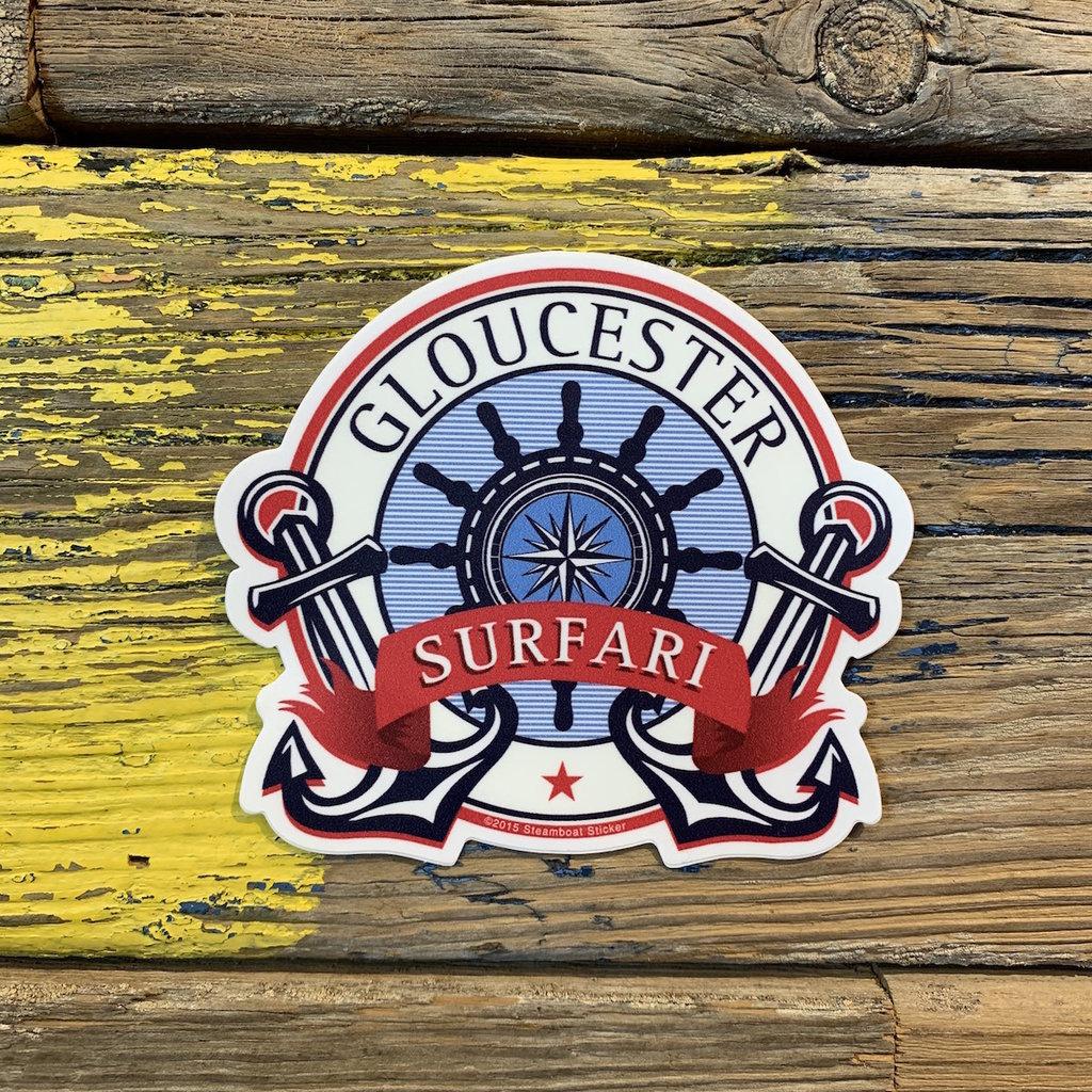 Surfari Nautical Navigation Surfari Sticker