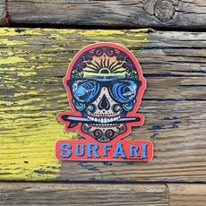 Surfari Surfer Skull Surfari Sticker