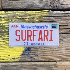 Surfari Massachusetts License Plate Surfari Sticker