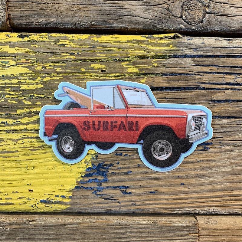 Surfari Surfari Truck Sticker