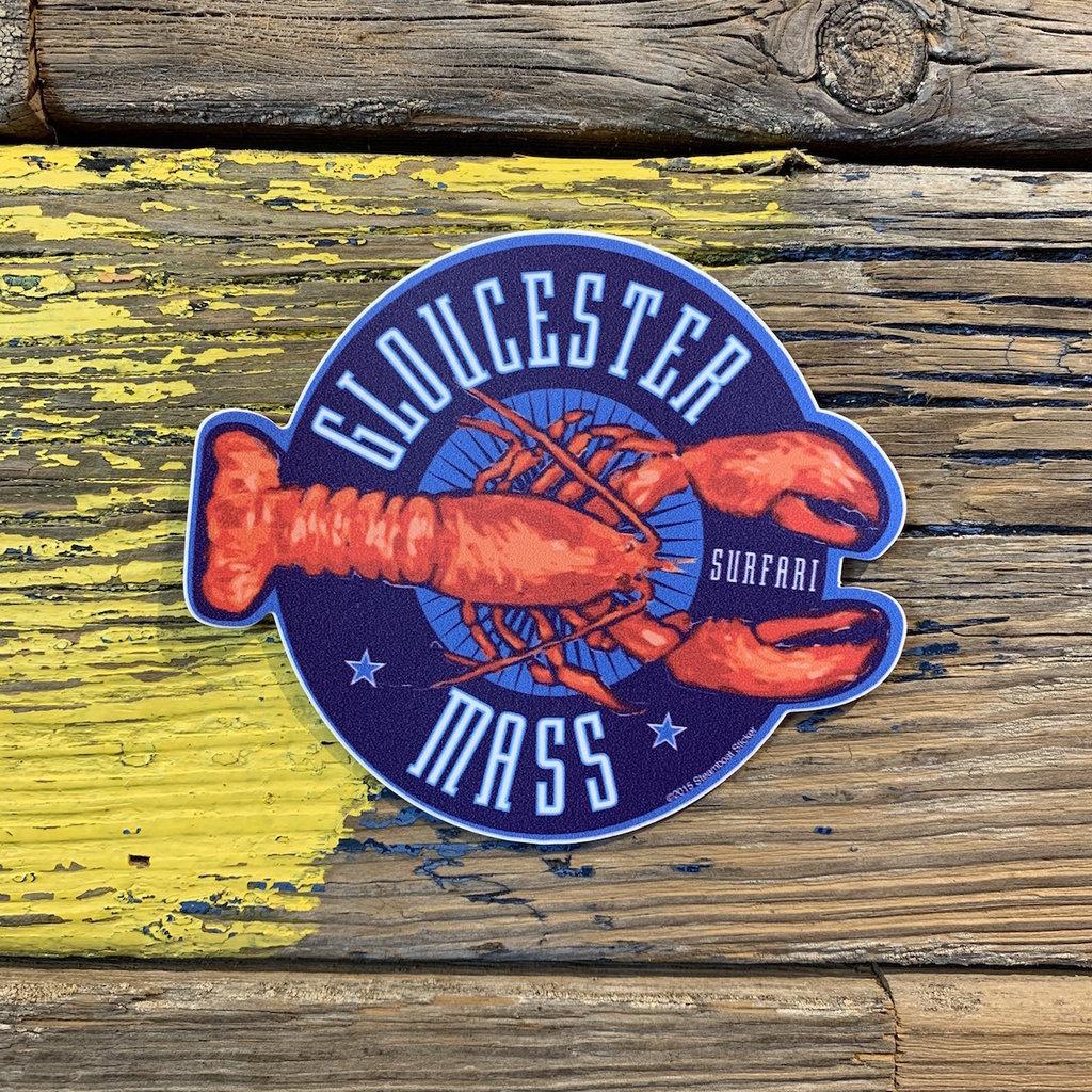Surfari Lobster Gloucester MA Surfari Sticker