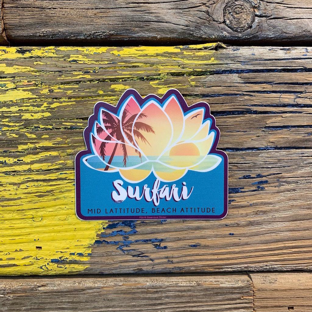 Surfari Surfari Mid Latitude Beach Attitude Lotus Sticker