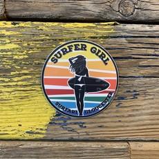 Surfari Surfer Girl Gloucester Surfari Sticker
