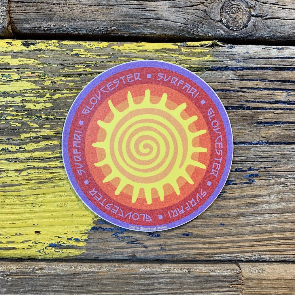 Surfari Gloucester Sun Surfari Sticker