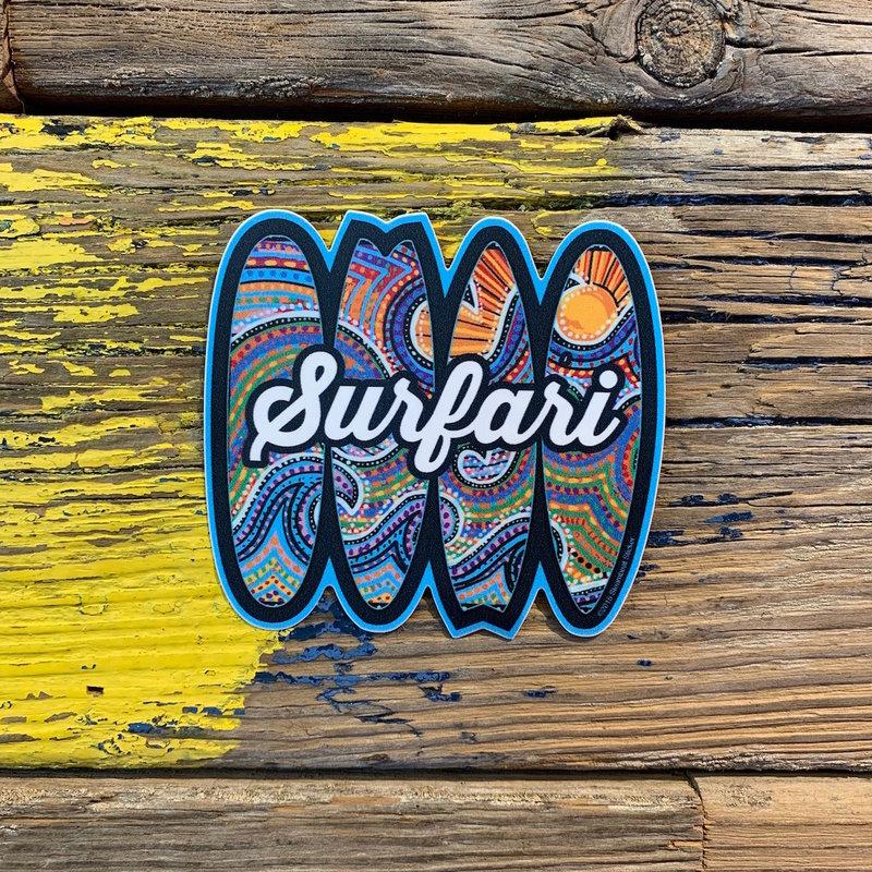 Surfari Psychedelic Surfboards Surfari Sticker