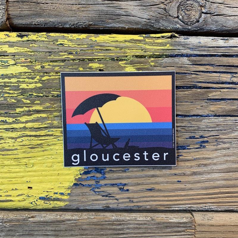 Surfari Gloucester Sunset Surfari Sticker