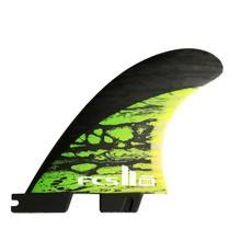 FCS FCS II Matt Biolos Carbon Medium Tri-Quad Fins Green