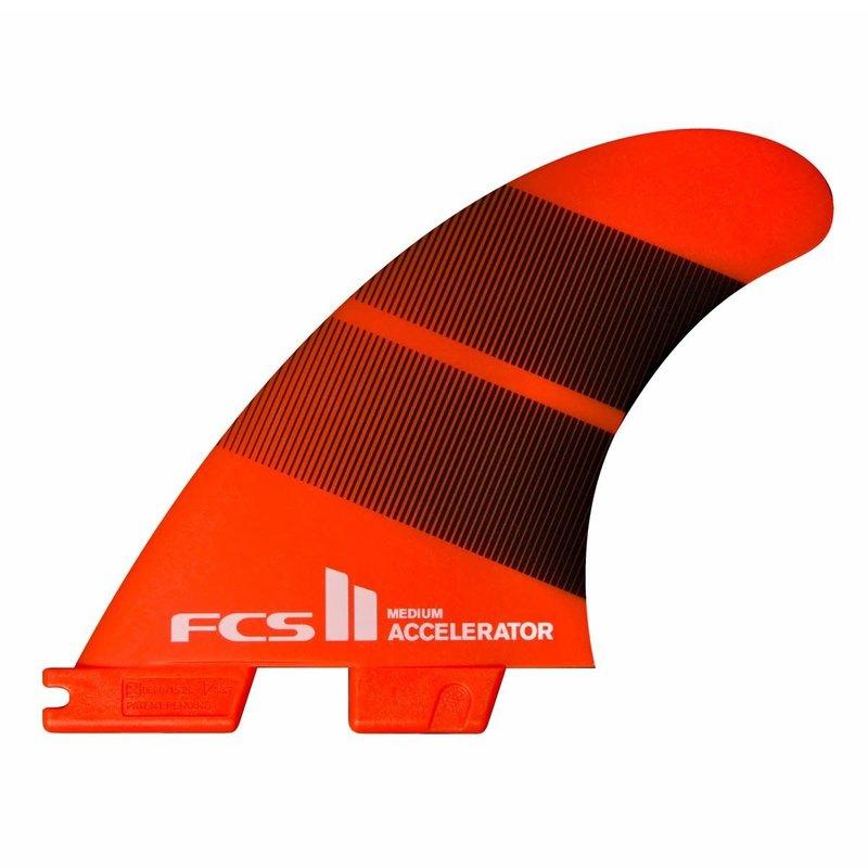 FCS FCS II Accelerator Neo Glass Medium Tangerine Gradient Tri Fins